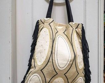 Luxury textile bag borsa handmade Italy artigianale elegant fabric shopper craftmanship Pierre Frey gift present design style