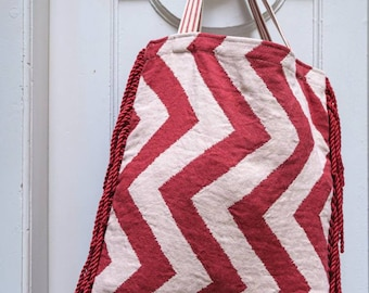 Luxury textile bag borsa handmade Italy artigianale elegant fabric shopper craftmanship C & C Milano gift present design style