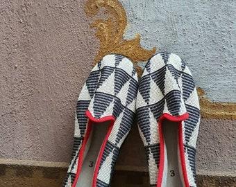 43*UNISEX Venetian sartorial fashion luxury slippers loafer shoes design handmade Italy original recycled friulane furlane veneziane wedding