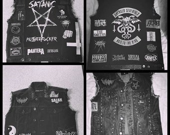 Pre-Teen Handmade Punk Vest One of a kind Handmade Custom Piece