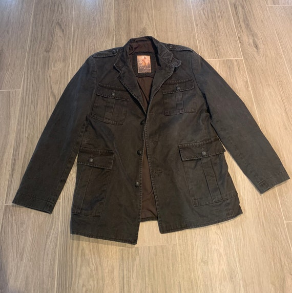 Black military styled jacket