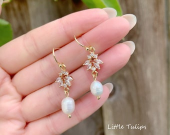 Pearl jewelry 925 silver earrings Natural pearl earrings Baroque Button Pearl Earrings earring jewelry handmade earrings