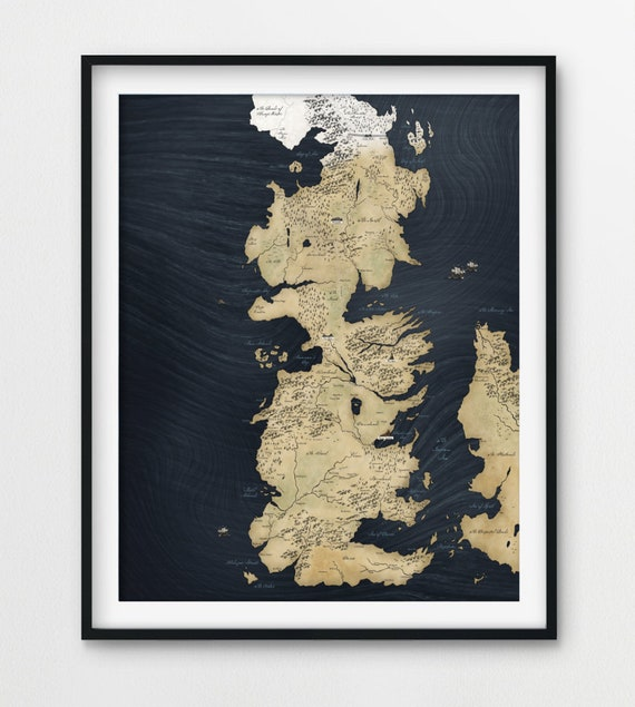 picture regarding Game of Thrones Printable Map named Match of Thrones Map, Sport of Thrones Poster, Recreation of Thrones Wall Artwork, Winterfell Map, Video game of Thrones decor, Printable Television Exhibit poster