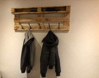 Garderobe Aus Paletten Mit Ablage