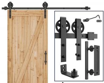 Barn Door Hardware Sliding Roller Barn Single Wood Door Hardware Closet  Track Kit Sets   5FT, 6.6FT And 8FT