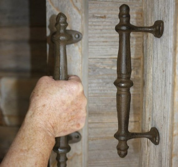 4X 11 Sliding Barn Door Handle Vintage Cast Iron Pull Gate Cabinet Farmhouse