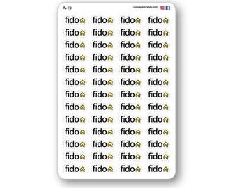 Organization stickers for agenda, fido
