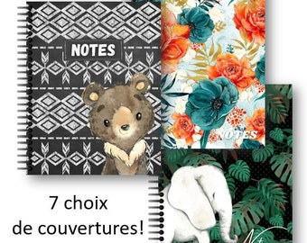 Notebook 8.5'' x 11'', 100 pages lineages, elephant