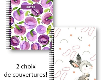 Note book 8.5'' x 11'', 100 pages with polka dots