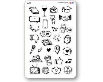 Various icon stickers