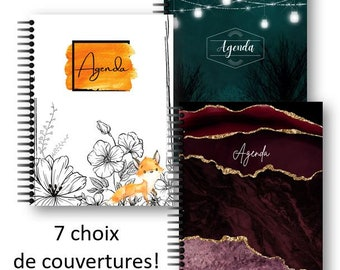 7 choices of undated agendas in French