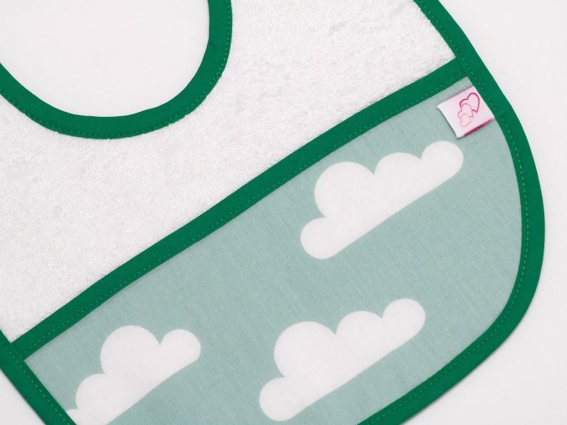 set de baberos de algod\u00f3n pack de baberos Conjunto de dos baberos baberos infantiles baberos a juego nubes baberos talla 0 a 18 meses