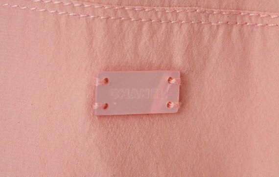 A Vintage 1990s Chanel Pink Silk Slip Dress - image 5