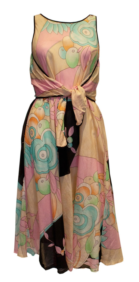Vintage Multicolour Summer Dress by Weil.