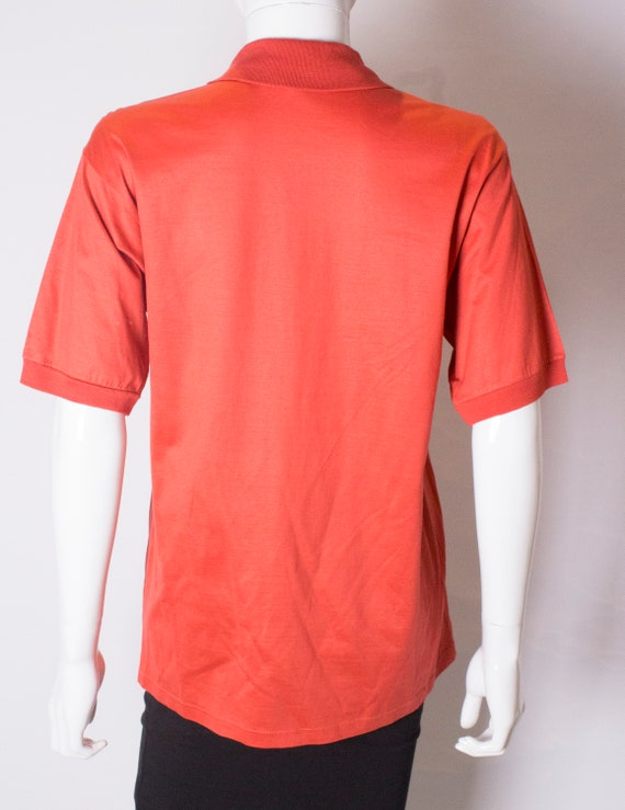 A Vintage 1990s orange Celine Polo Shirt - image 8