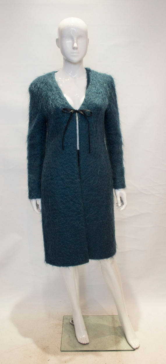 A Vintage 1980s turquoise Valentino Mohair Coat