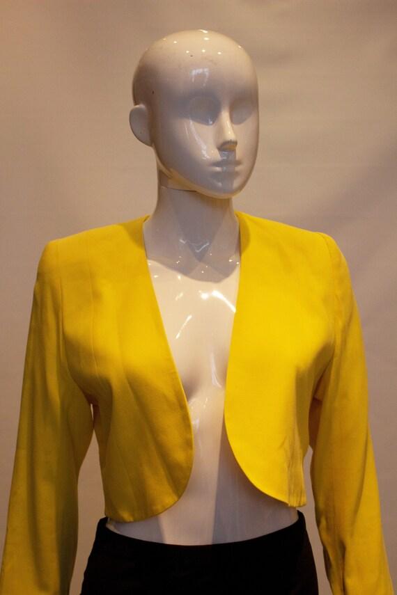 Vintage Escada Yellow Crop Bolero - image 5
