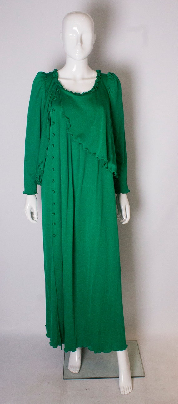 A vintage 1970s Green Gown by Jean Varon