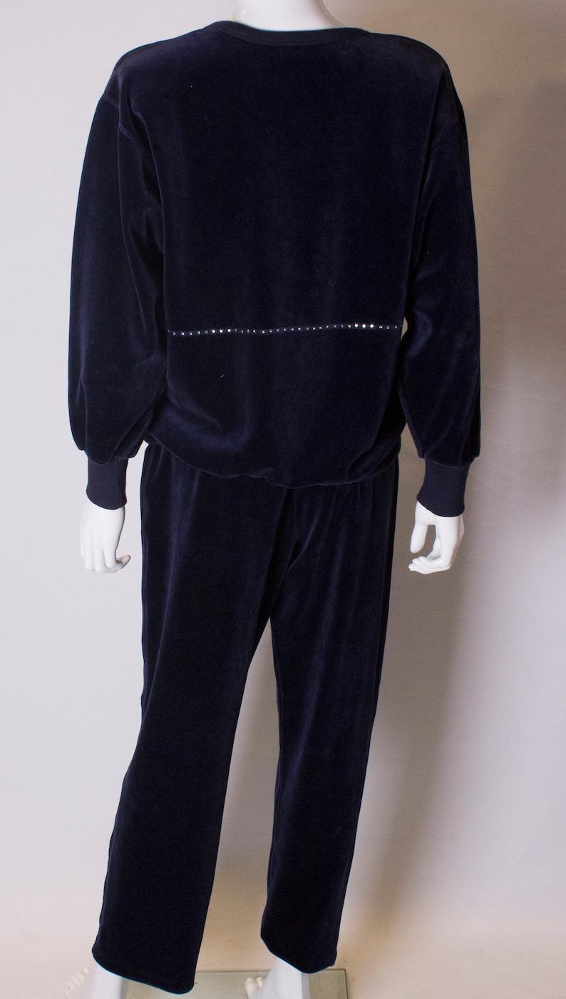7062f1eee7 A Vintage navy velvet Sonia Rykiel Leisure / track Suit   Etsy