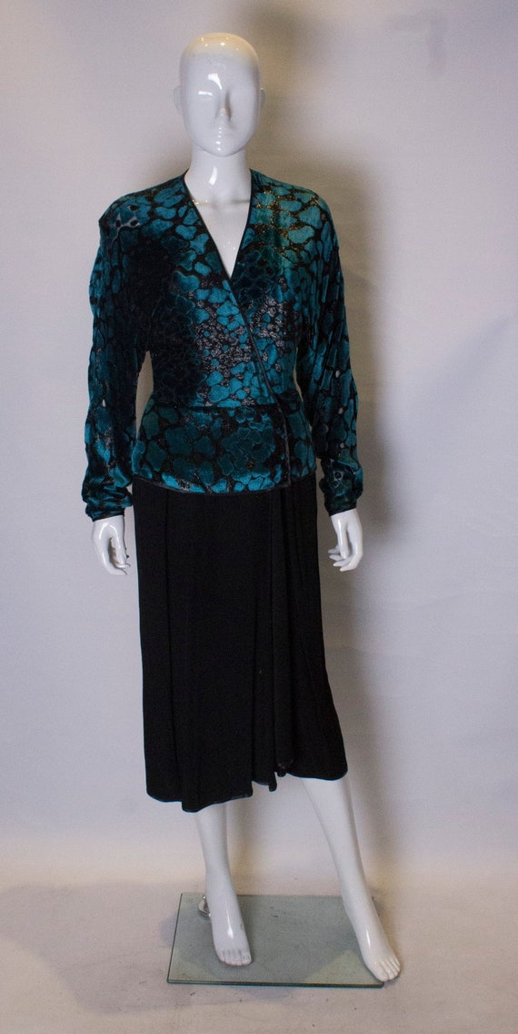 A Vintage 1980s Janice Wainwright velvet Cocktail