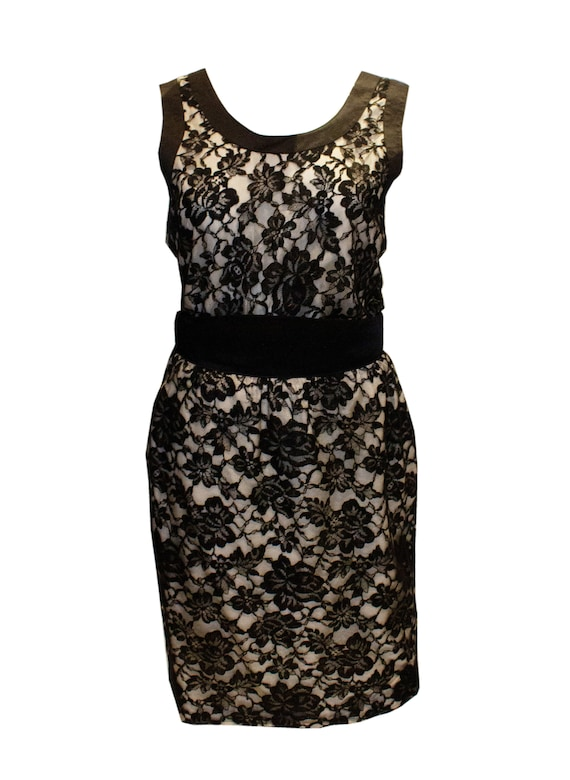 Vintage Escada Black Lace Top and Skirt