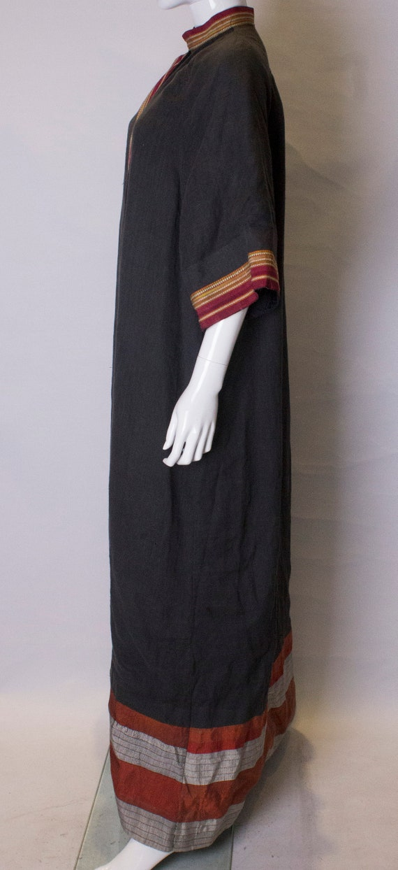 A Thea porter floor length jacket in black and st… - image 6