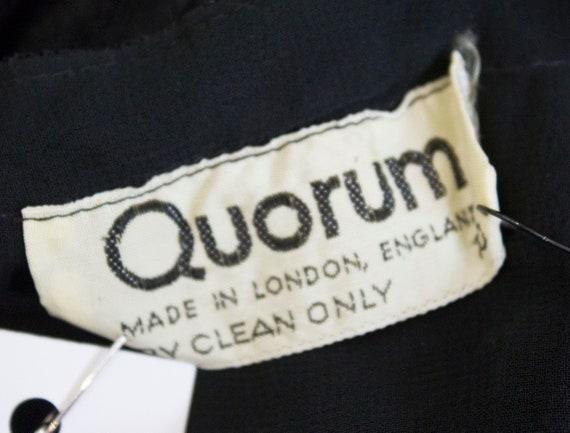 A Vintage 1970s Quorum Black Lace Halter Neck Dre… - image 7