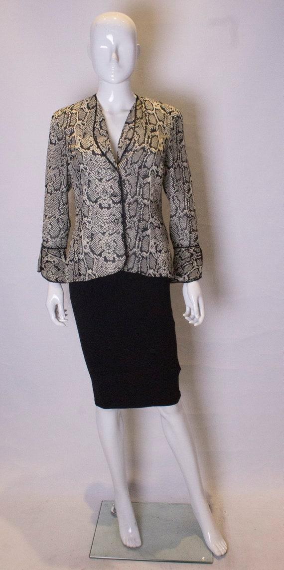 Vintage Silk Snakeskin print Jacket /top - image 1