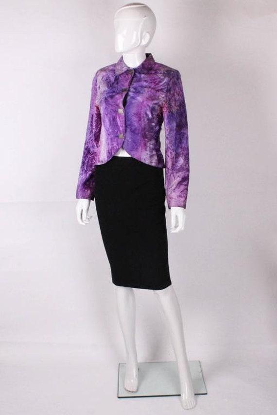A vintage Biba Purple Crushed Velvet Jacket