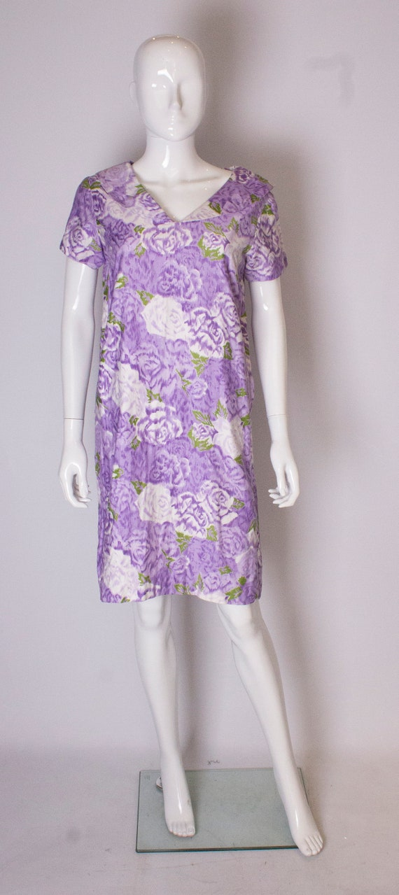 A Vintage 1960s printed cotton smock dress by Cali