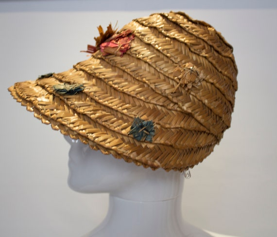 A Vintage 1930s Summer Straw day Hat - image 4