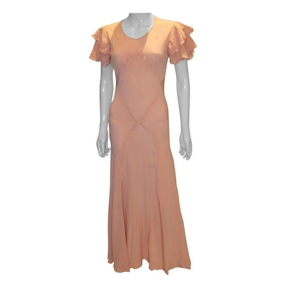 A Vintage 1930s pale Pink evening Gown