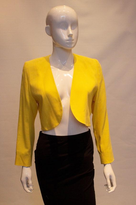 Vintage Escada Yellow Crop Bolero - image 4
