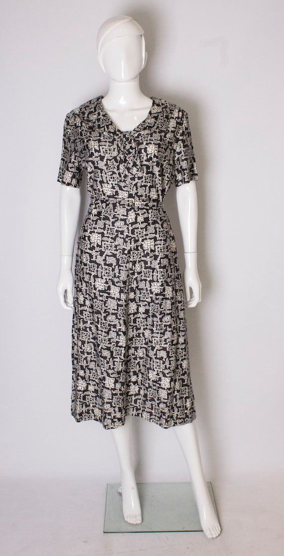 A Vintage 1970s cotton printed day Dress by Horroc