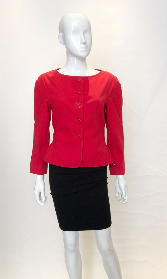 A Vintage 1990s Moschino Red Jacket