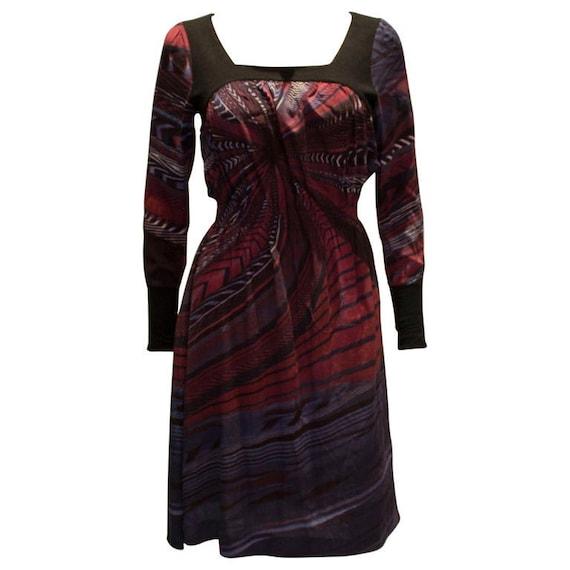 A vintage 1990s Byblos Silk printed Dress