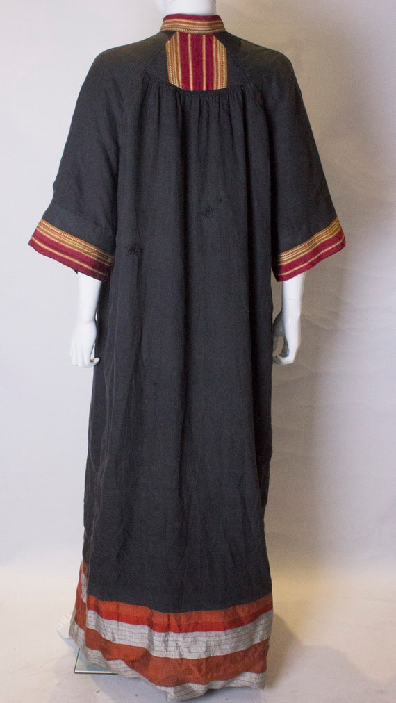 A Thea porter floor length jacket in black and st… - image 9