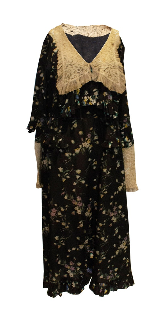 Vintage 1920s Silk and Lace Dress