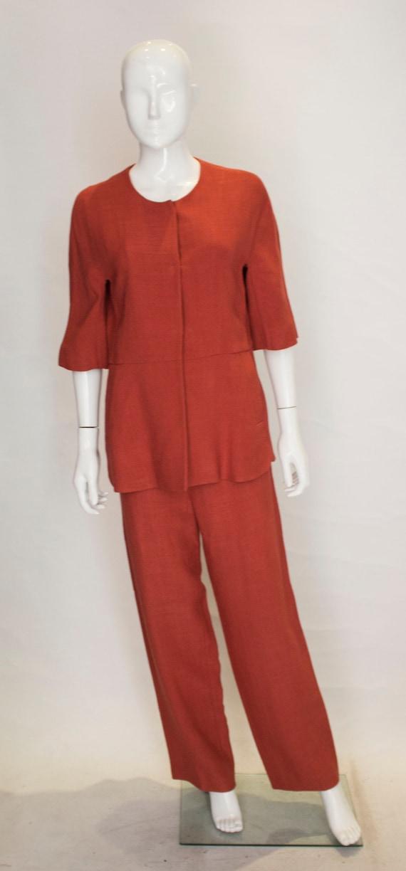A Marni Burnt Orange Trouser Suit