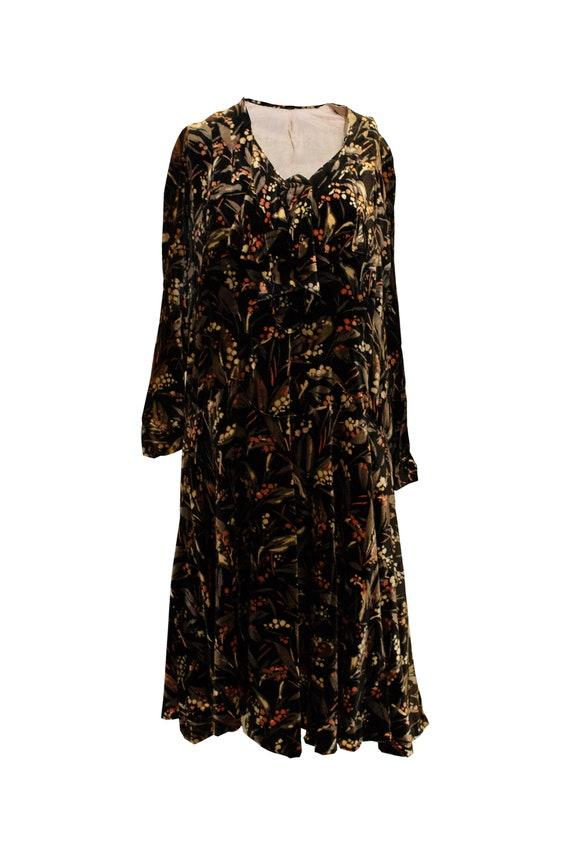 Vintage 1920s Velvet Dress