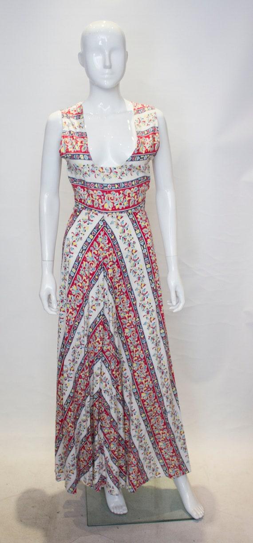 A Vintage 1940s printed Cotton Dress and Bolero J… - image 2