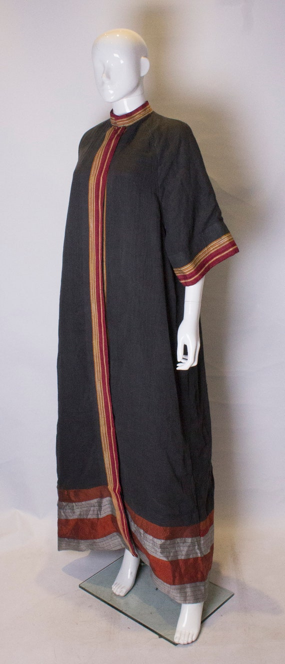 A Thea porter floor length jacket in black and st… - image 3