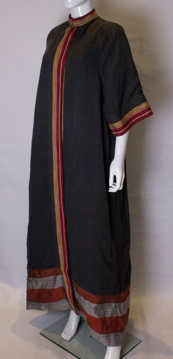 A Thea porter floor length jacket in black and st… - image 4