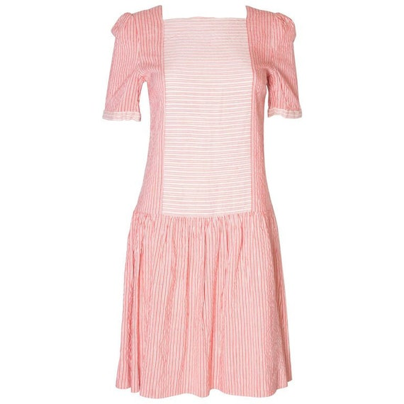 A Vintage 1970s stripe cotton summer day dress by