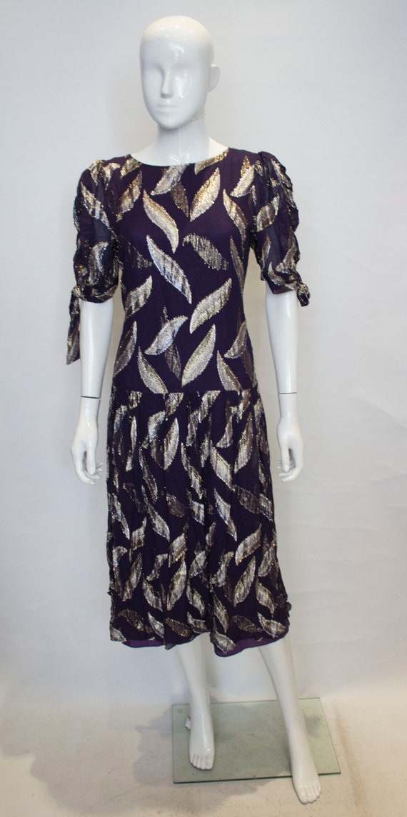 a vintage 1980s purple party dress by radley