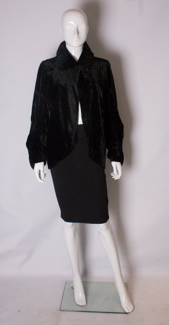 A Vintage 1920s Silk Velvet Jacket