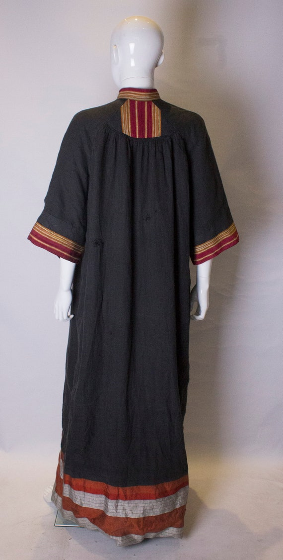 A Thea porter floor length jacket in black and st… - image 8