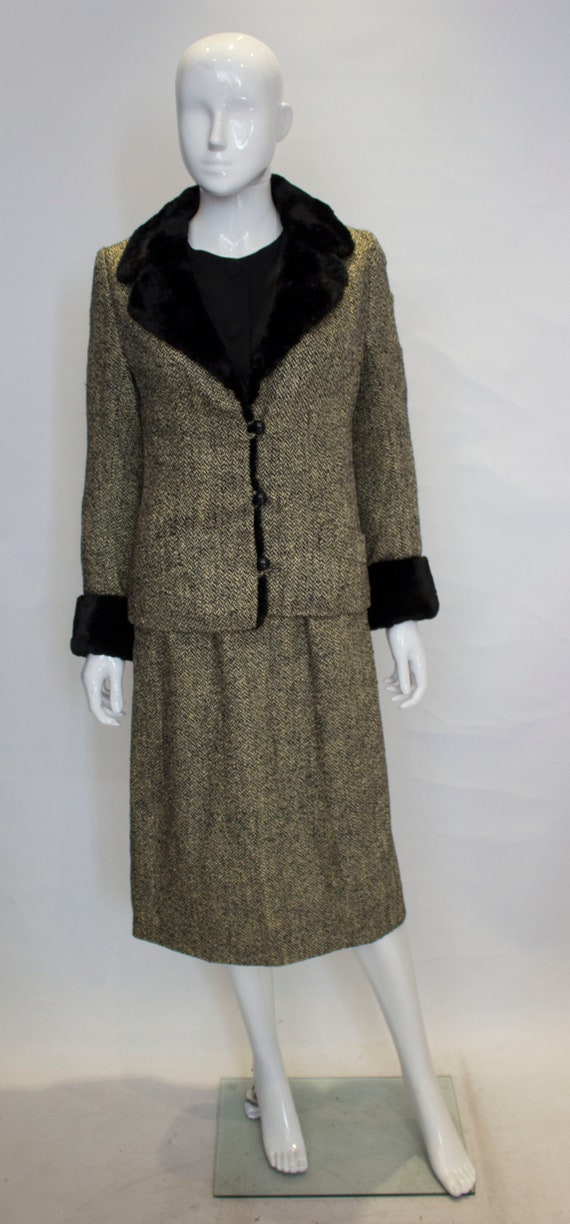A Vintage 1960s Hartnell wool Dress and Jacket sui