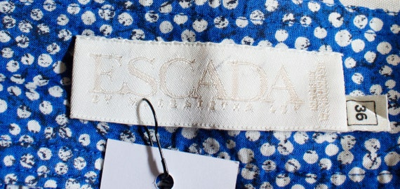 Vintage Blue and White Escada Skirt