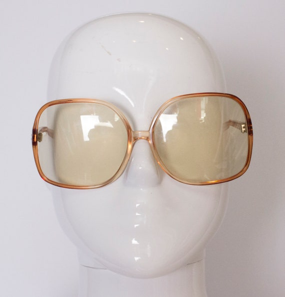 A pair of Vintage 1970s Sunglasses in a Bronze Col